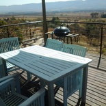 Deck with braai and view over the valley