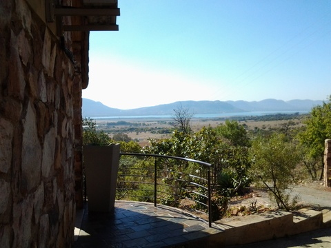 Patio view, Red Sky Lodge, Sky Lodge, Hartbeespoort self catering accommodation