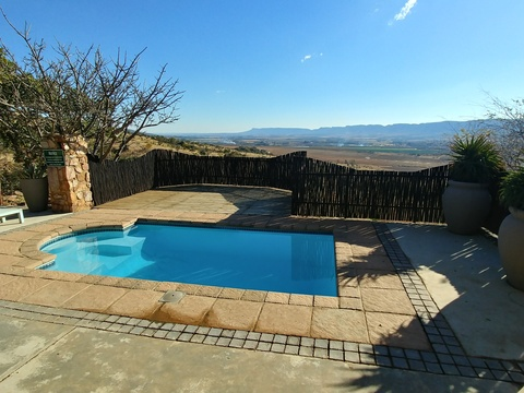 Sunset Lodge at Sky Lodge - Private pool and deck overlooking the valley