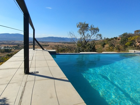 Blue Sky Lodge private pool deck and boma area - Beautiful views!