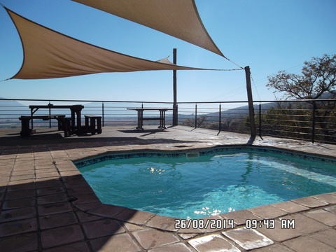 Private pool deck overlooking the Hartbeespoort valley