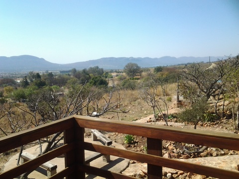 Sky Lodge, Hartbeespoort - Stone Suite private patios with fantastic views