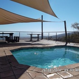 Private pool deck overlooking the valley