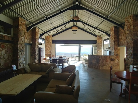 Sunset Lodge at Sky Lodge, open plan lounge and kitchen