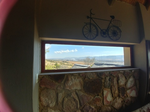 Blue Sky Lodge - Lounge west view. We love bicycles!