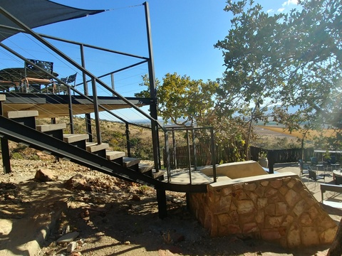 Sunset Lodge at Sky Lodge - Private patio leading to private boma